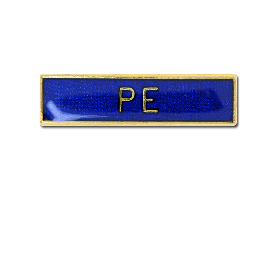 PE Small Bar Badge