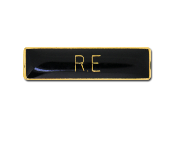 R.E Small Bar Badge