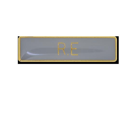 R.E Small Bar Badge