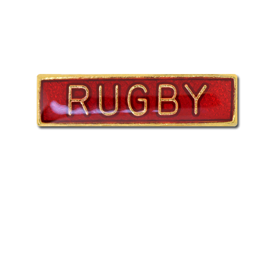 Rugby Small Bar Badge