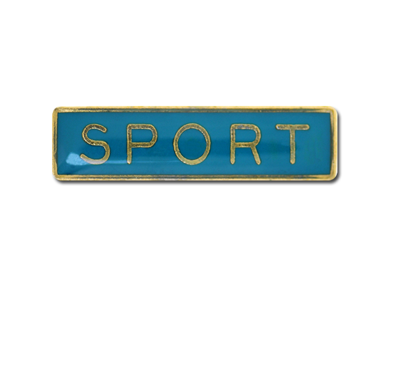 Sport Small Bar Badge