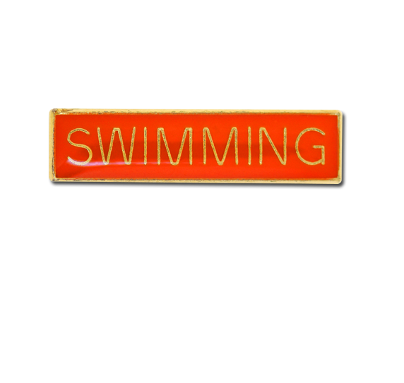 Swimming Small Bar Badge