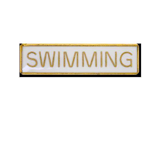 Swimming Small Bar Badge