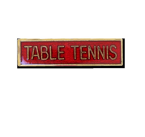 Table Tennis Small Bar Badge