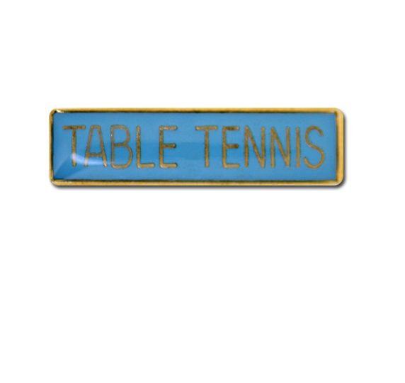 Table Tennis Small Bar Badge