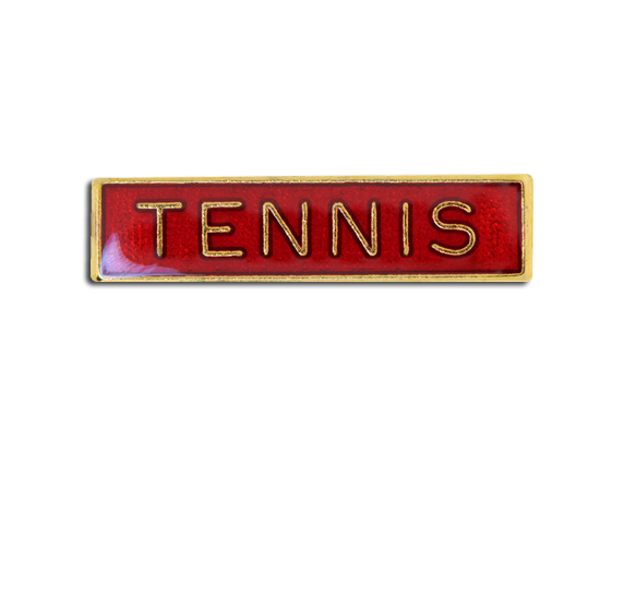 Tennis Small Bar Badge