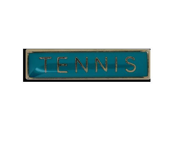 Tennis Small Bar Badge