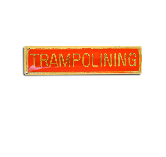 Trampolining Small Bar Badge