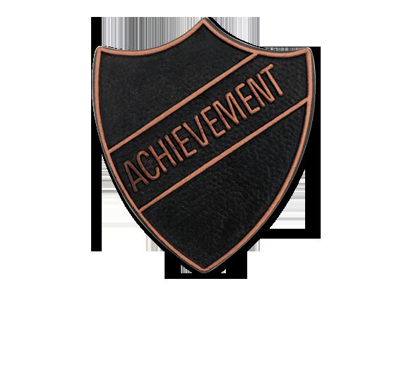 Achievement Metal Shield Badge