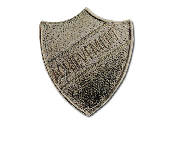 Achievement Metal Shield Badge