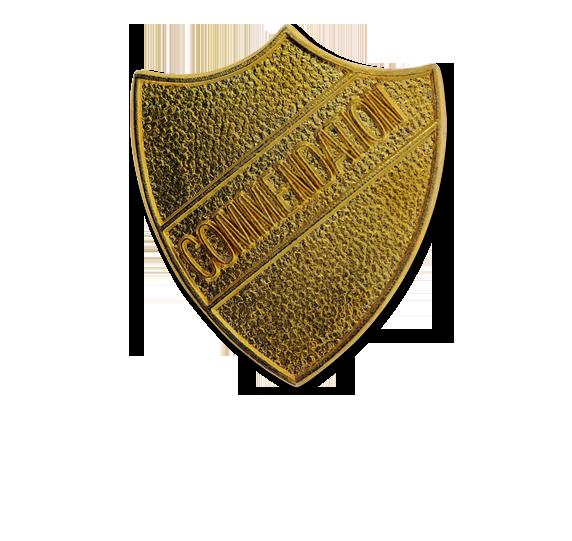 Commendation Metal Shield Badge