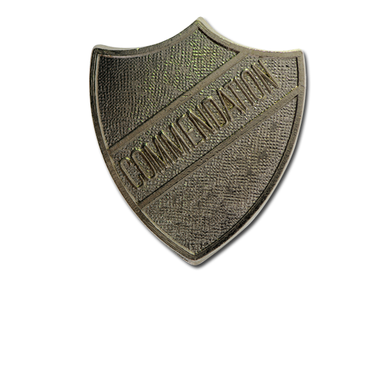 Commendation Metal Shield Badge