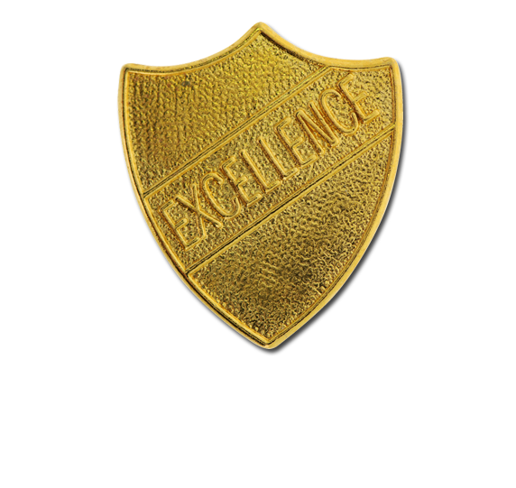 Excellence Metal Shield Badge