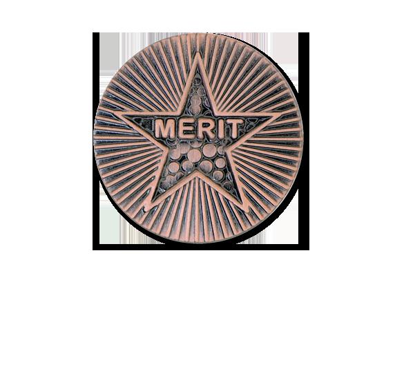 Merit Round Badge