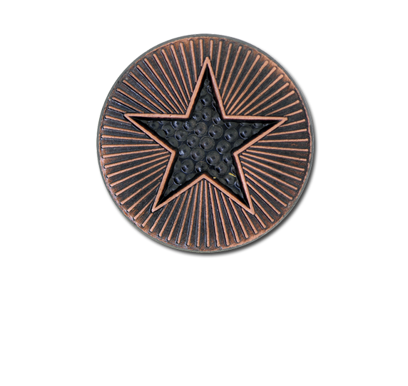 Plain Star Round Badge