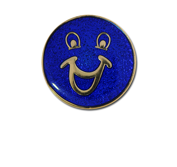 Smiley Face Round Badge