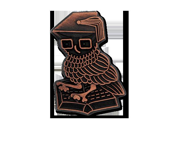 Studious Owl Unique Badge
