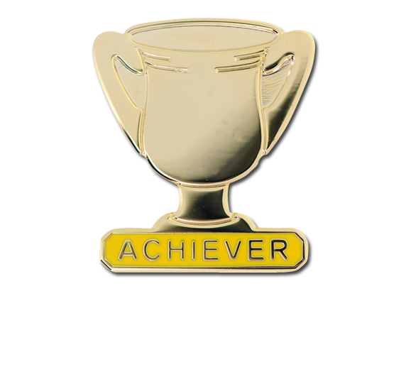 Achiever Trophies - Gold Trophy Badge