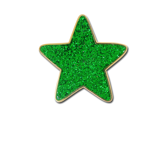 Glitter Star Star Badge
