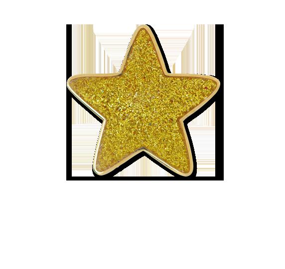 Glitter Star Star Badge