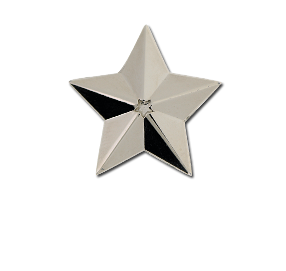 3D Star Star Badge