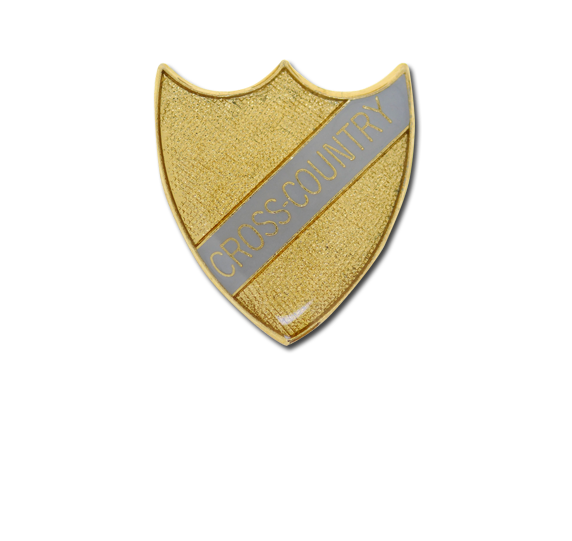Cross-Country Small Enamelled Stripe Shield Badge