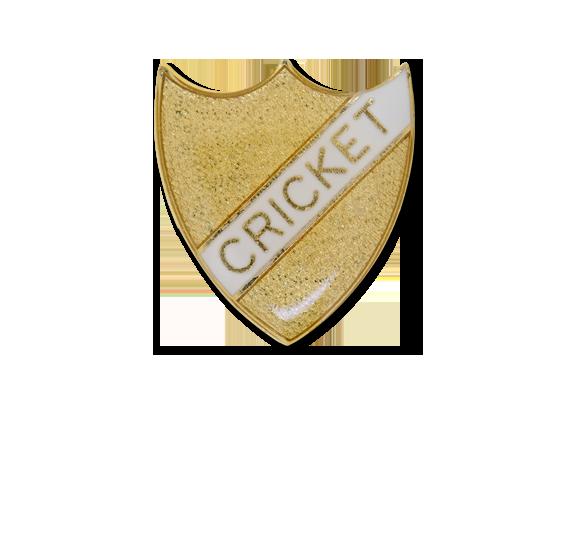 Cricket Small Enamelled Stripe Shield Badge