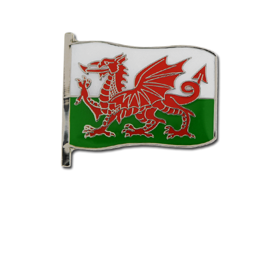 Wales Large Flag Badge