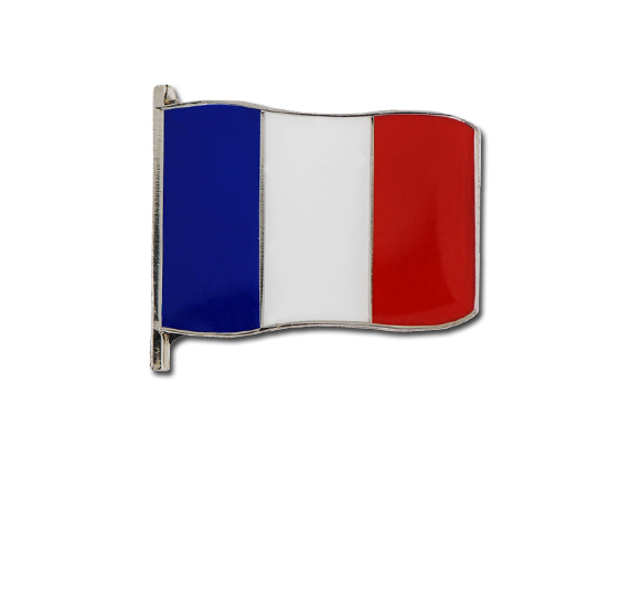French Small Flag Badge
