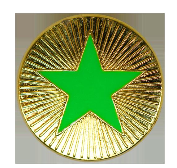 Neon Enamelled Plain Star Round Badge