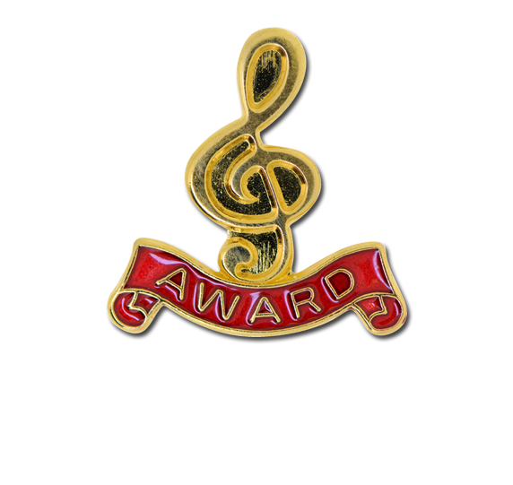 Award - Gold Clef Badge