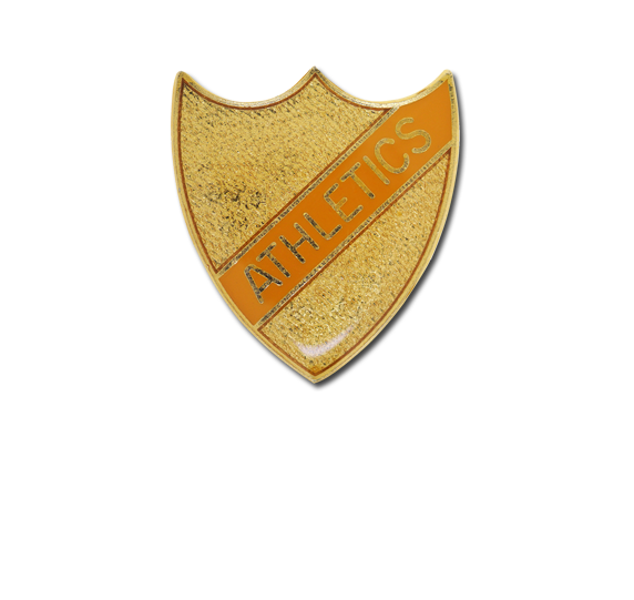 Athletics Small Enamelled Stripe Shield Badge