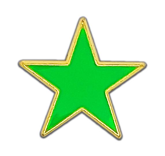 Small Neon Enamelled Star Badge