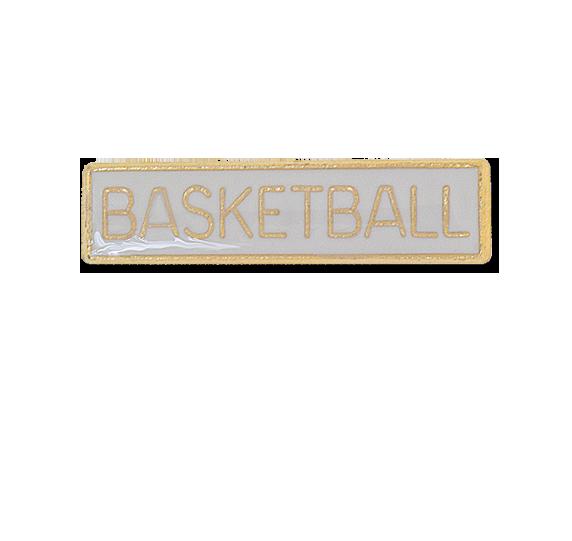 Basketball Small Bar Badge
