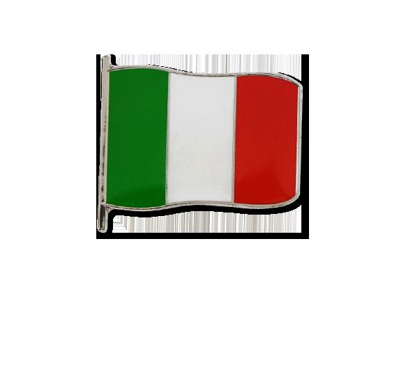 Italian Small Flag Badge
