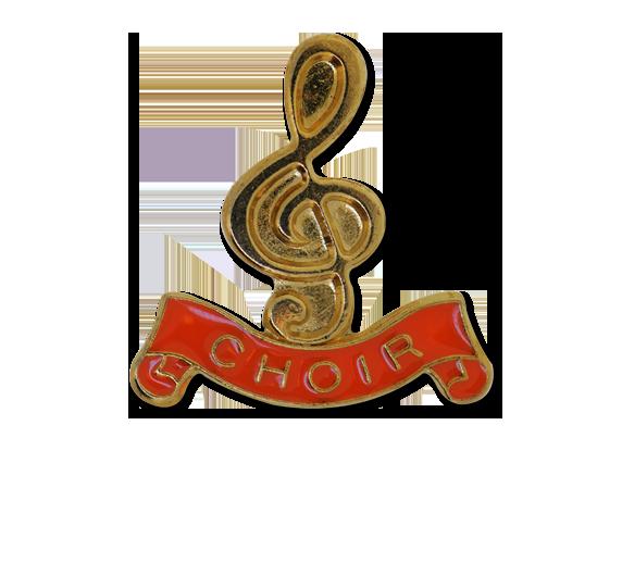 Choir -  Gold Clef Badge