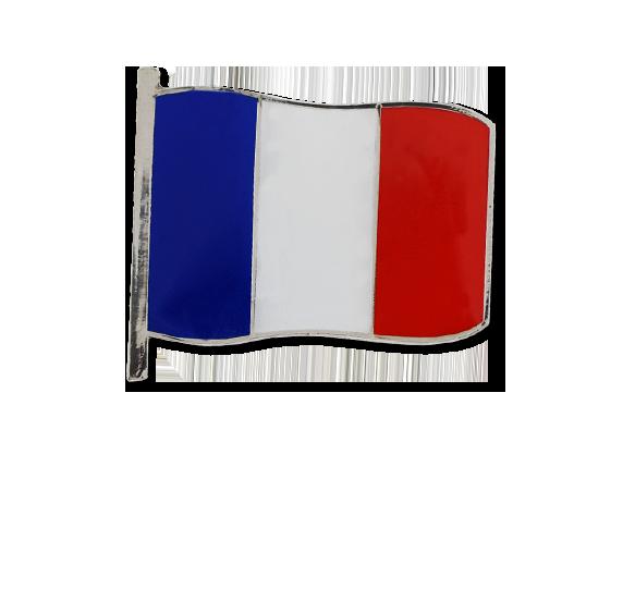 France Large Flag Badge