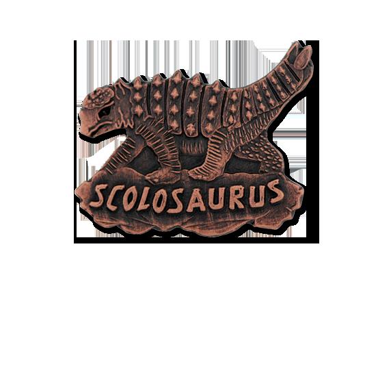Scholosaurus Dinosaur Unique Badge